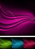 Abstract aurora backgrounds. Stock Photo