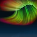 Abstract aurora. Multicolor shape light, looks like flower Royalty Free Stock Photography