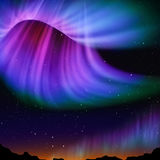Abstract aurora. Multicolor aurora and star background royalty free illustration