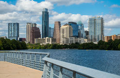 Abstract Austin Texas Mid Day Perfect Summer along Colorado River Royalty Free Stock Photography