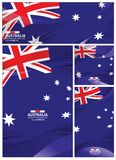 Abstract Australia Flag Background. Australia flag abstract colors background. Collection banner design. brochure vector illustration Vector Illustration