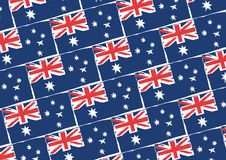 Abstract AUSTRALIAN flag or banner. Vector illustration stock illustration