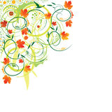 Abstract autumn. Flower background with waves, element for design, illustration vector illustration