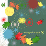 Abstract autumn. Background bright, Vector background Stock Photos