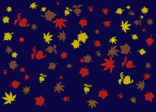 Abstract autumn background. Abstract  background  with autumn  leaves Royalty Free Stock Photo