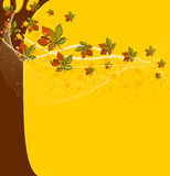 Abstract autumn background. With copyspace royalty free illustration