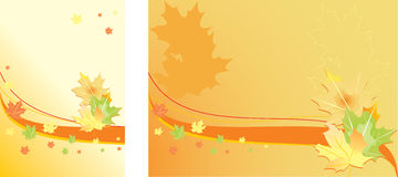 Abstract autumn background. Vector image background with autumn maple leaves and autumnal mood Royalty Free Stock Image