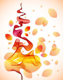 Abstract autumn background. With wave royalty free illustration