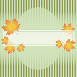 Abstract autumn background. Colorful fall frame with leaves Stock Photos