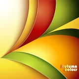 Abstract autumn background. With color paper royalty free illustration