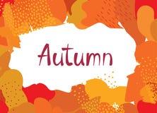 Abstract autumn background design. Ð¡reative fall poster with fr. Abstract autumn background design. Сreative fall poster with frame and lettering Autumn stock illustration