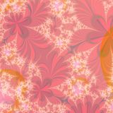 Abstract Autumn background design template. Abstract Background of red and orange flowers on a pale peach background. Background or wallpaper pattern. Unique royalty free illustration