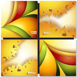 Abstract autumn background. With different color leaves vector illustration