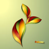 Abstract autumn background. With leaves stock illustration