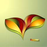 Abstract autumn background. With leaves royalty free illustration