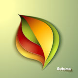 Abstract autumn background. With leaves vector illustration