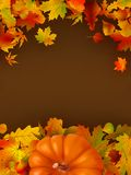 Abstract autumn background with leaves. EPS 8. Abstract autumn bright background with leaves. EPS 8 vector file included Stock Image