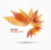 Abstract autumn background with  leaves Royalty Free Stock Image