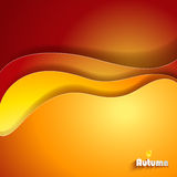 Abstract Autumn background. Abstract Autumn background with paper waves vector illustration
