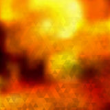 Abstract autumn background of triangles. Abstract autumn background of small triangles in orange colors royalty free illustration