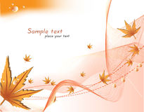 Abstract autumn background. Vector Royalty Free Stock Photo