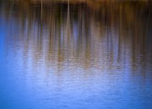 Abstract autumn background water mirroring Stock Images