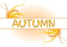Abstract autumn banner Royalty Free Stock Images