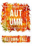 Abstract autumn banner, vector. Autumn banner with abstract geometric colorful leaves over white, vector background Royalty Free Illustration