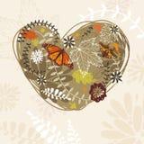 Abstract autumn card Stock Photo