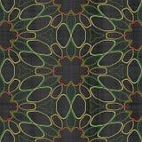 Abstract autumn decoration. Kaleidoscope. Sacred geometry- ornament mosaic. Mandala- artistic illustration Royalty Free Stock Photography