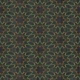 Abstract autumn decoration. Kaleidoscope. Sacred geometry- ornament mosaic. Mandala- artistic illustration Stock Images