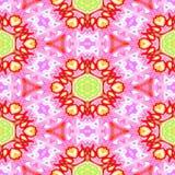 Abstract autumn decoration. Kaleidoscope seamless. Sacred geometry- ornament mosaic. Mandala- artistic illustration Stock Photo