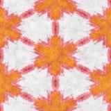 Abstract autumn decoration. Kaleidoscope seamless. Sacred geometry- ornament mosaic. Mandala- artistic illustration Stock Photography