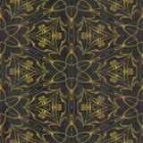 Abstract autumn decoration. Kaleidoscope seamless. Sacred geometry- ornament mosaic. Mandala- artistic illustration Stock Photos