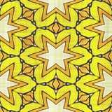 Abstract autumn decoration. Kaleidoscope pattern. Sacred geometry- ornament mosaic. Mandala- artistic illustration Stock Photography