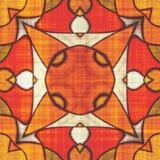 Abstract autumn decoration. Kaleidoscope pattern. Sacred geometry- ornament mosaic. Mandala- artistic illustration Royalty Free Stock Images
