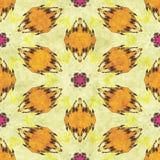 Abstract autumn decoration. Kaleidoscope seamless. Sacred geometry- ornament mosaic. Mandala- artistic illustration Royalty Free Stock Images