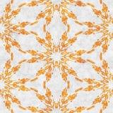Abstract autumn decoration. Kaleidoscope seamless. Sacred geometry- ornament mosaic. Mandala- artistic illustration Royalty Free Stock Image