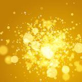 Abstract autumn defocused gold background, Royalty Free Stock Photography