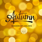 Abstract autumn defocused gold background vector illustration