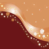 Abstract autumn design. Abstract autumn background with leaves and stars Royalty Free Illustration