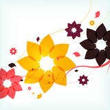 Abstract autumn flower background Royalty Free Stock Photos