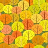 Abstract autumn forest seamless background Royalty Free Stock Photos