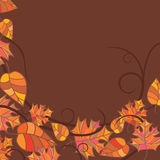 Abstract autumn frame. Illustration Vector Illustration