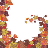 Abstract autumn frame. Illustration Stock Illustration