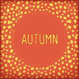 Abstract autumn frame. Autumn banner with circle frame of maple leafs. Vector eps 10 Royalty Free Stock Image
