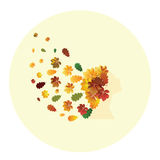 Abstract Autumn Girl Stock Images