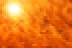 Abstract autumn Golden yellow orange colors pixelation. Abstract autumn Golden yellow orange paint bright sun pixelation. simple background on autumn theme stock illustration
