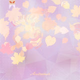 Abstract autumn illustration with maple Leaves. EPS10 royalty free illustration