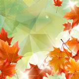 Abstract autumn illustration with maple Leaves. EPS10 stock illustration